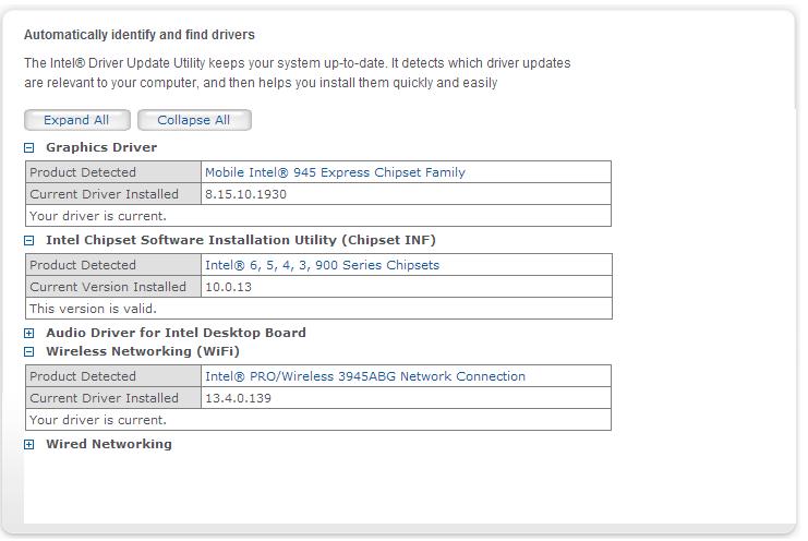 Intel Update Utility D820
