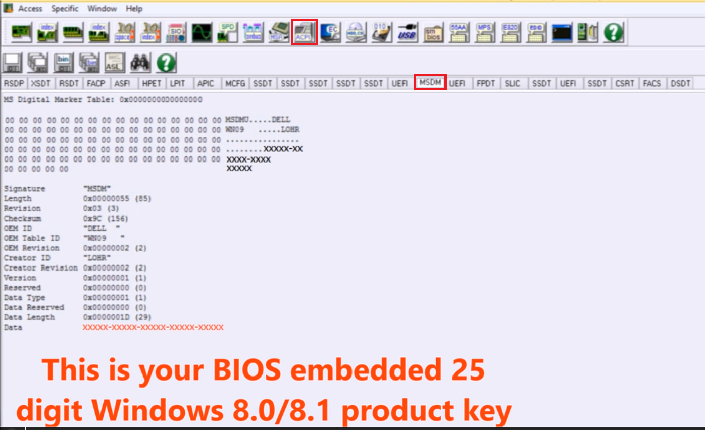 BIOS OEM UEFI Windows Extract Product Key License Key Recovery Tool Software