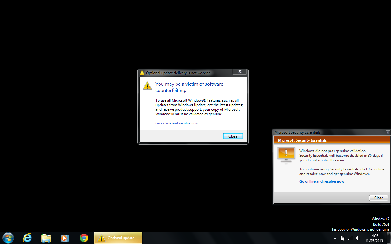 dimagrire windows 7 post install