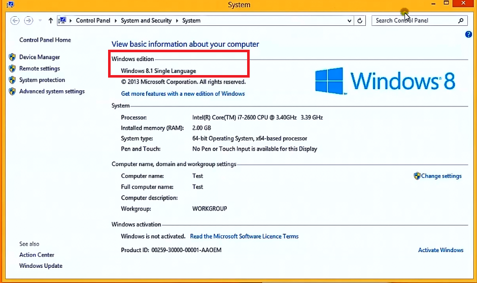 Windows 8 1 the oem or retail license and product for Window 8 1 pro product key