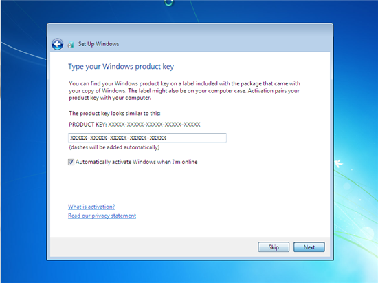 win7 activation key starting qith 0000