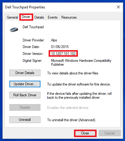 If there is an ! then the driver has not taken and must be uninstalled. If  the Touchpad is not-responsive or erratic you may need to plug in a USB  mouse to ...