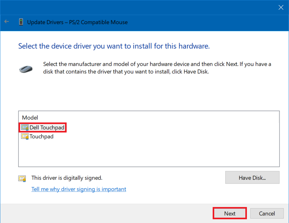 Dell touchpad drivers the unofficial windows 10 reinstallation guide accept yes at the warning the driver publicscrutiny Image collections