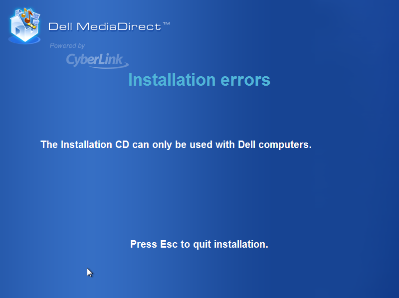 dell media direct error