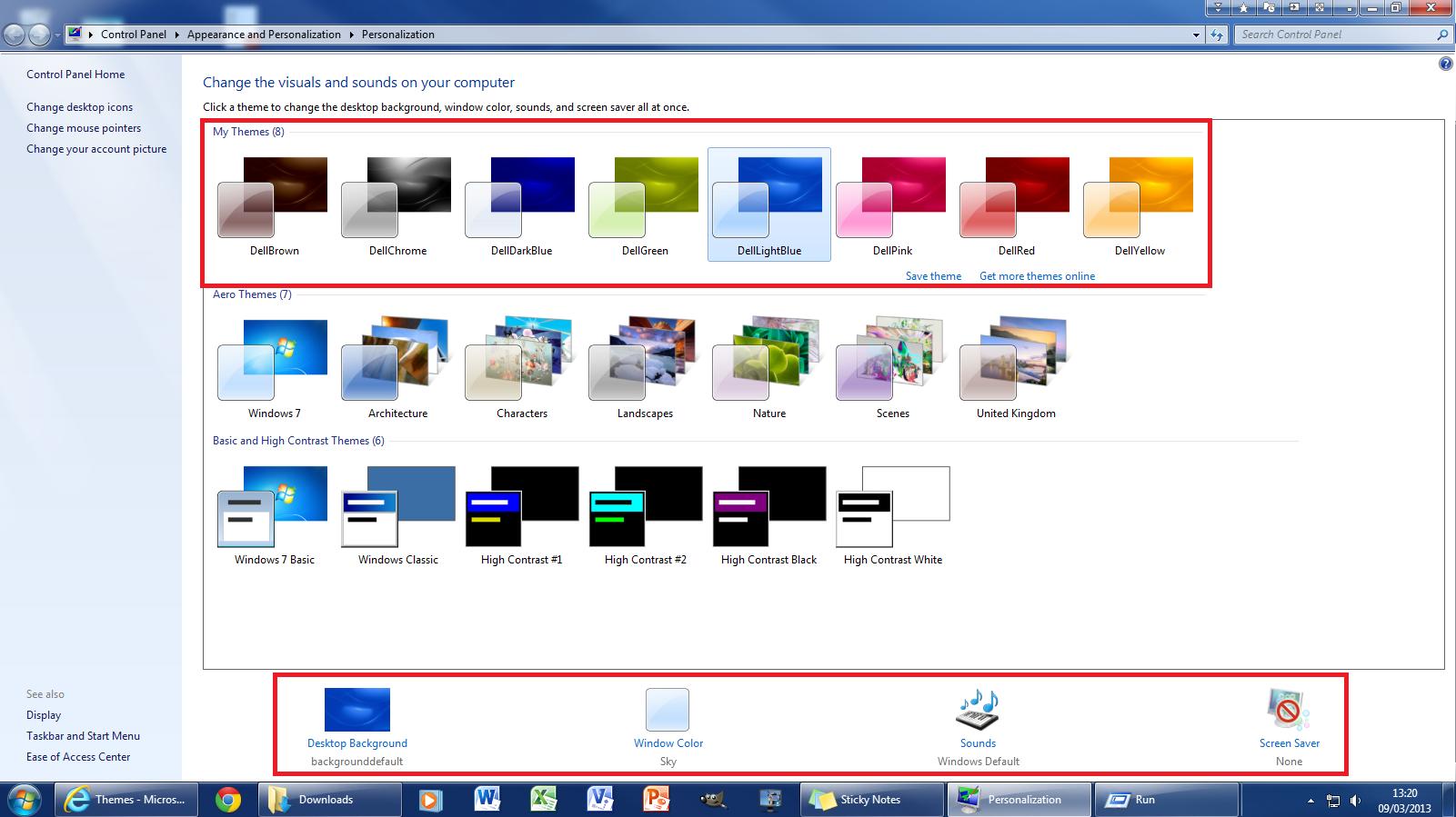 microsoft 7 themes