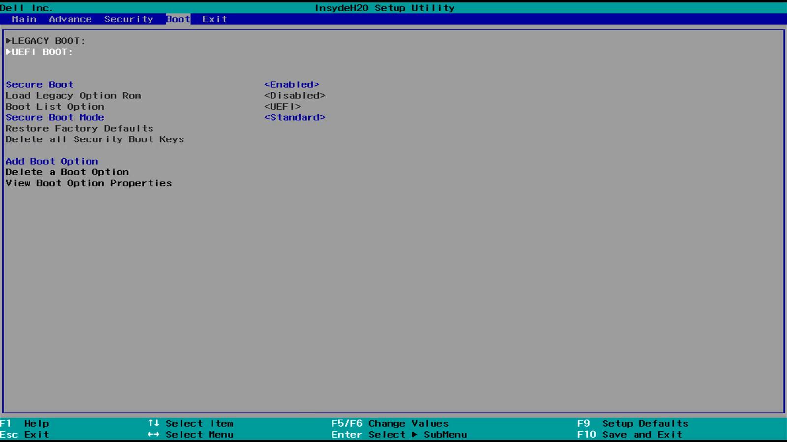 windows 8.1 uefi firmware settings missing