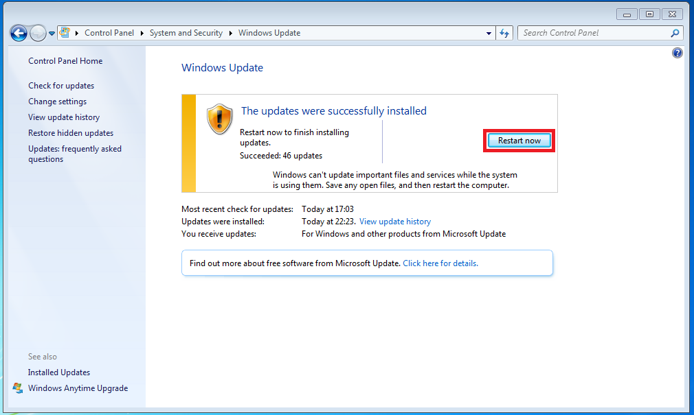 Windows update restarting windows 7 windows 7 update internet connection problem august 2012