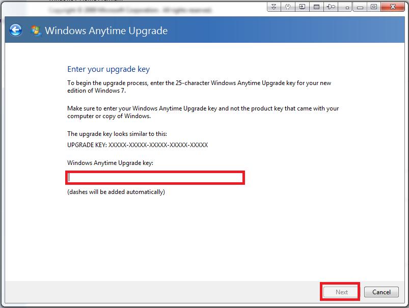 Validating windows vista product key