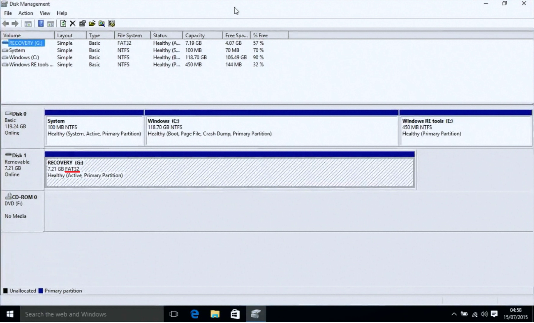 how to use a recovery drive windows 10
