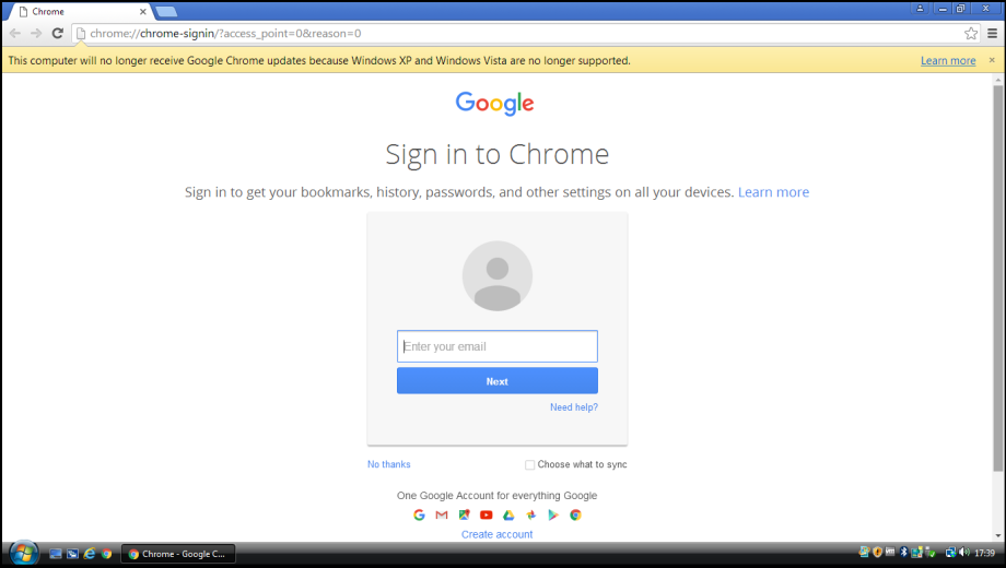 Chrome Message