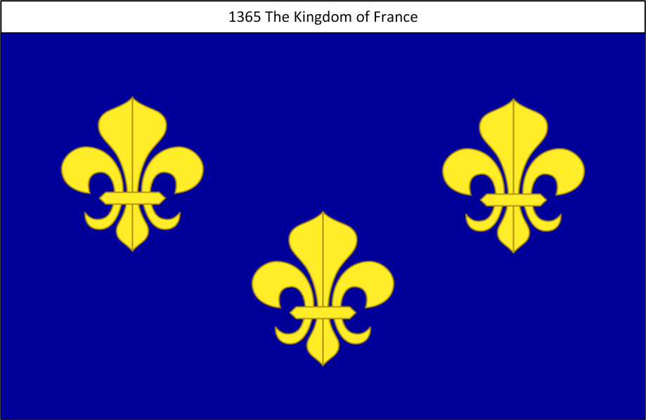 1365 Flag of the Kingdom of France