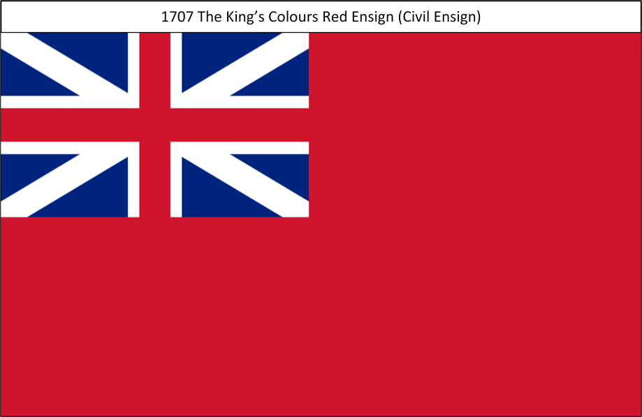 1707 4. Kings Colours Red Ensign