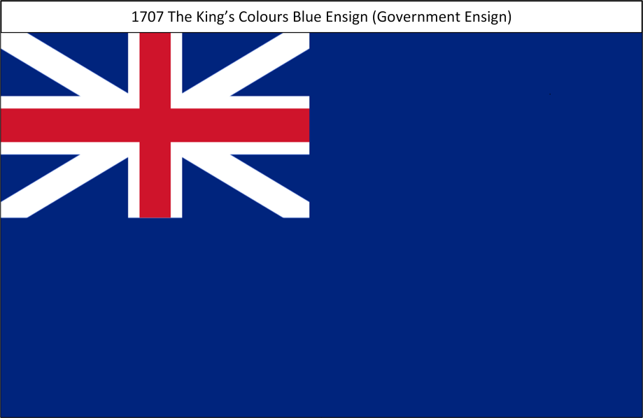 1707 5. Kings Colours Blue Ensign