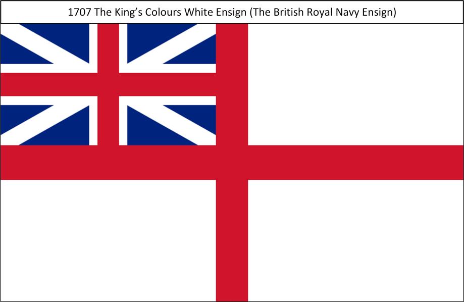 1707 6. Kings Colours White Ensign