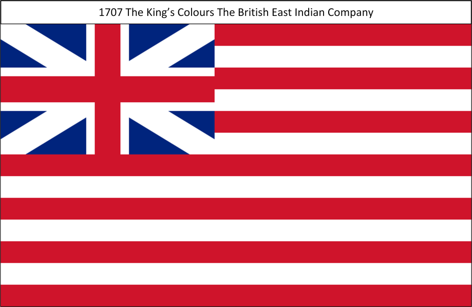 1707 8. Kings Colours British East India Company