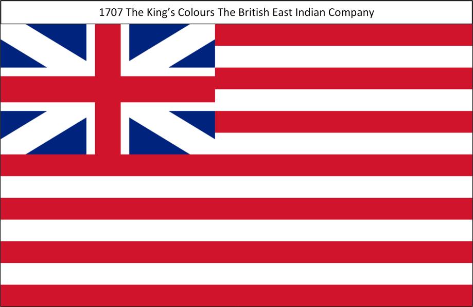 1707 8. Kings Colours British East India Company
