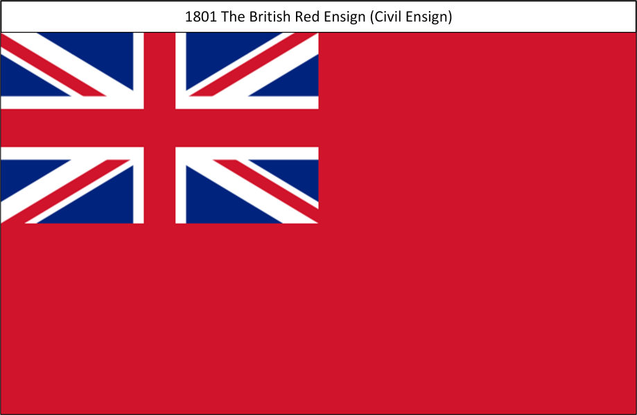 1801 4. Union Flag Red Ensign