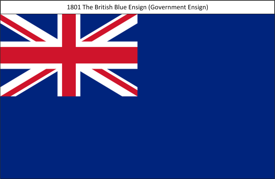 1801 5. Union Flag Blue Ensign