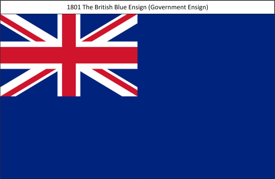 1801 5. Union Flag Blue Ensign