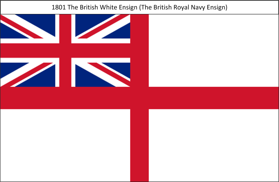 1801 6. Union Flag White Naval Ensign