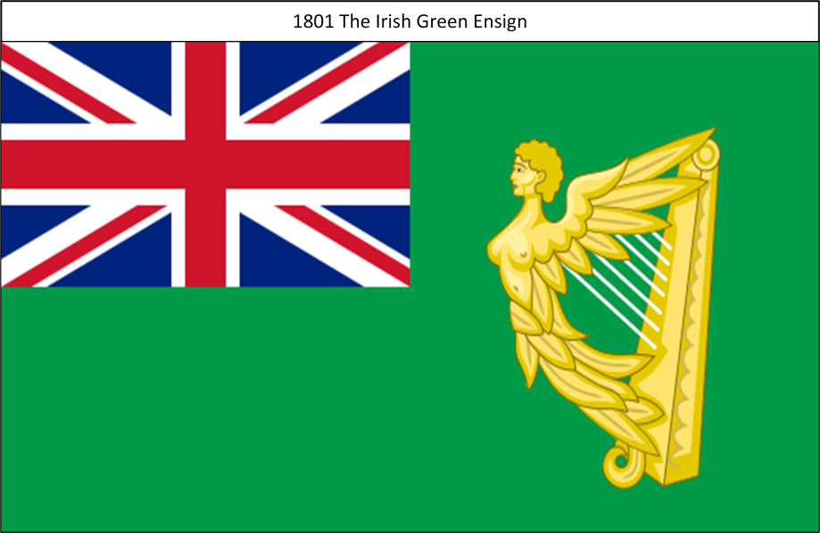 1801 8. The Irish Green Ensign