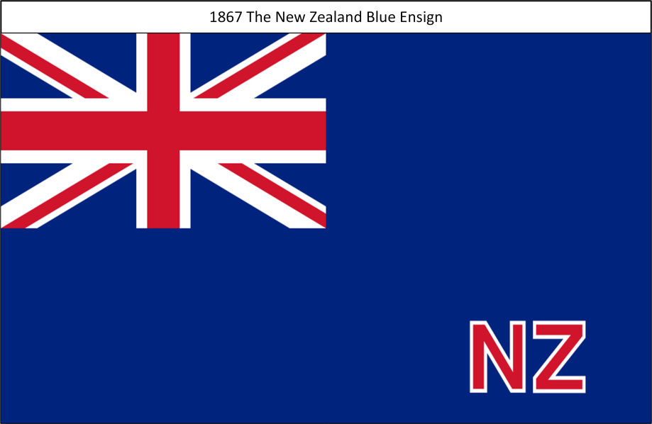 1867 New Zealand Blue Ensign