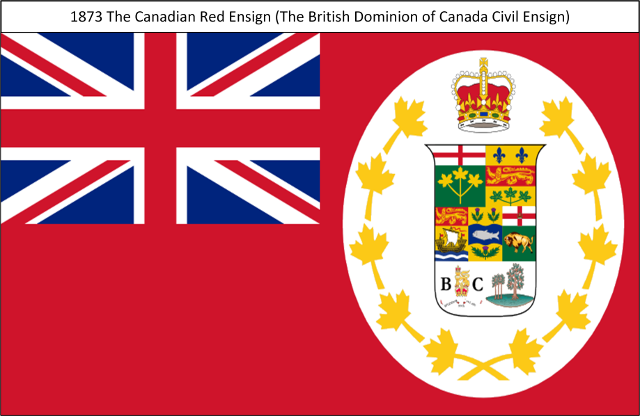 1873 The Canadian Red Ensign S. All