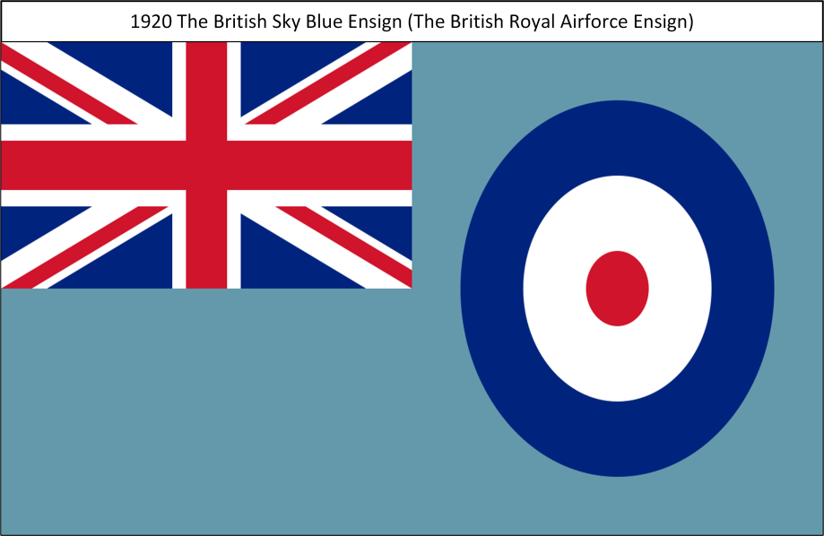 1920 The British Royal Airforce Sky Blue Ensign