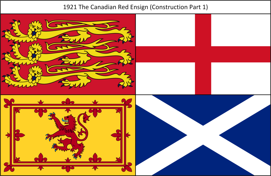 1921 The Canadian Red Ensign 1. Construction
