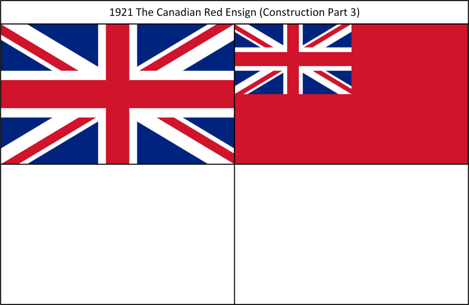 1921 The Canadian Red Ensign 3. Construction