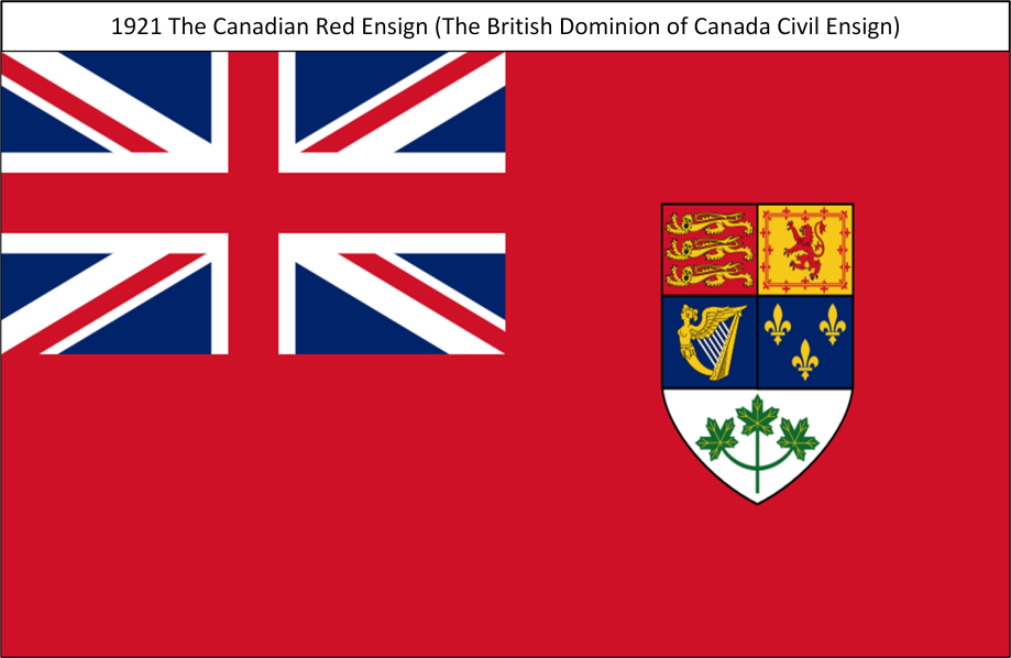 1921 The Canadian Red Ensign S. All