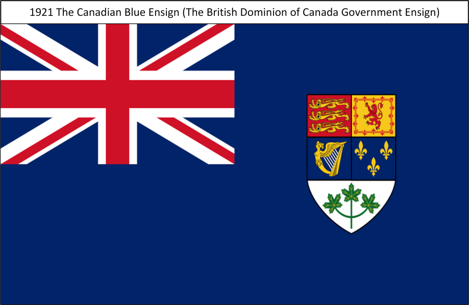 1921 The Canadian T Blue Ensign T. All