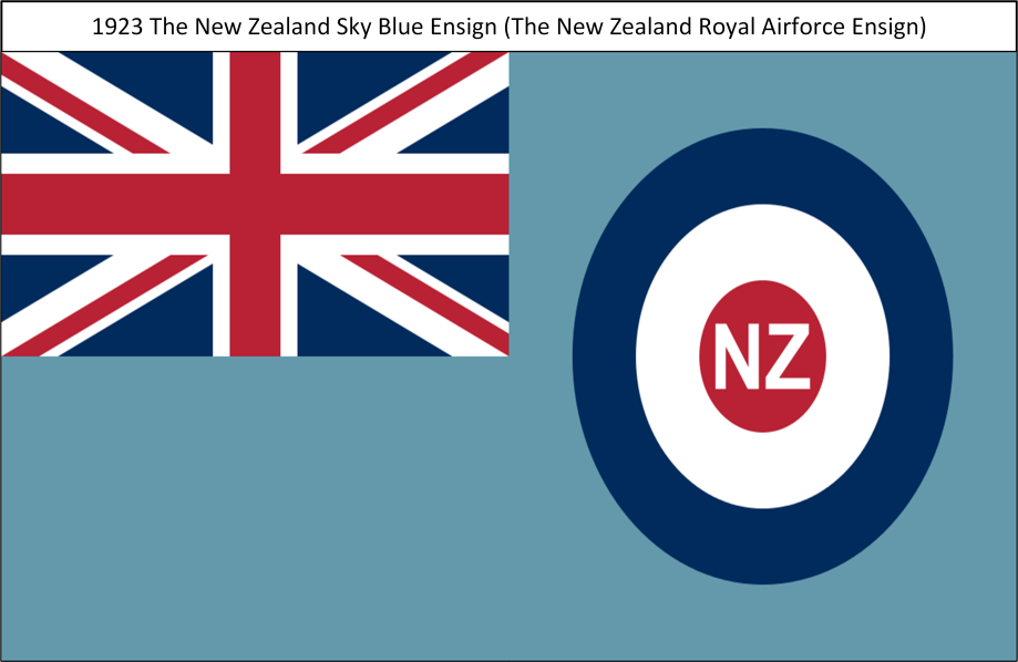 1923 The New Zealand Royal Airforce Sky Blue Ensign