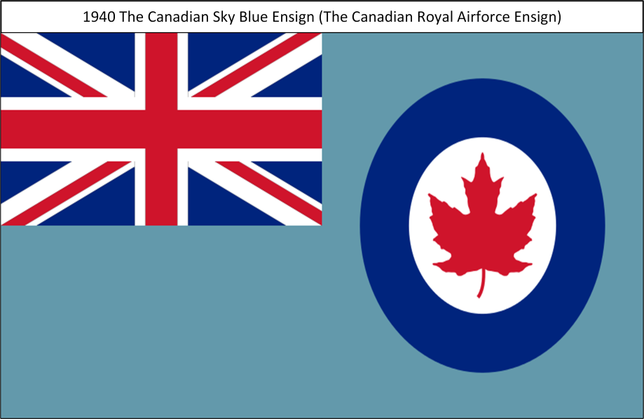 1940 The British Royal Airforce Sky Blue Ensign