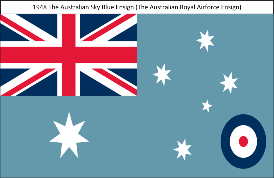 1948 The Australian Royal Airforce Sky Blue Ensign