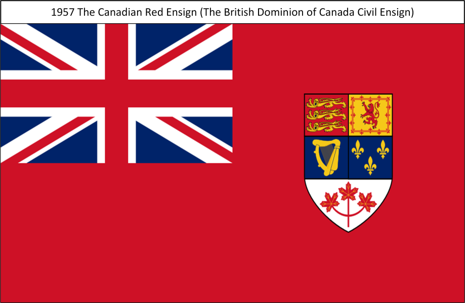 1957 The Canadian Red Ensign