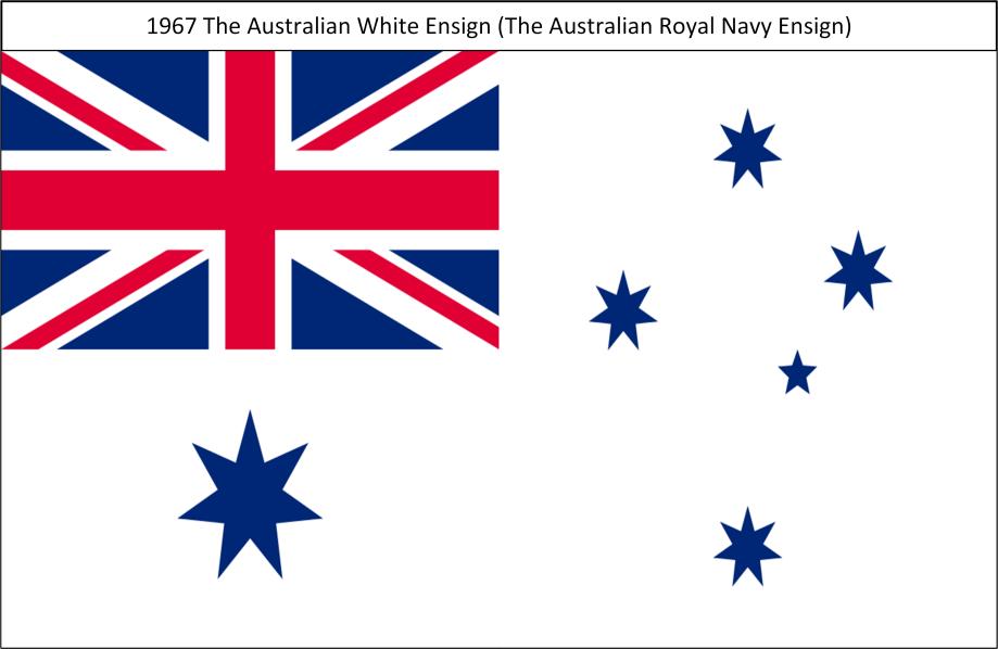 1967 The Australian White Ensign