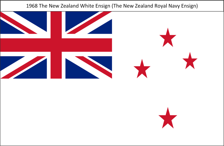 1968 A. The New Zealand White Ensign