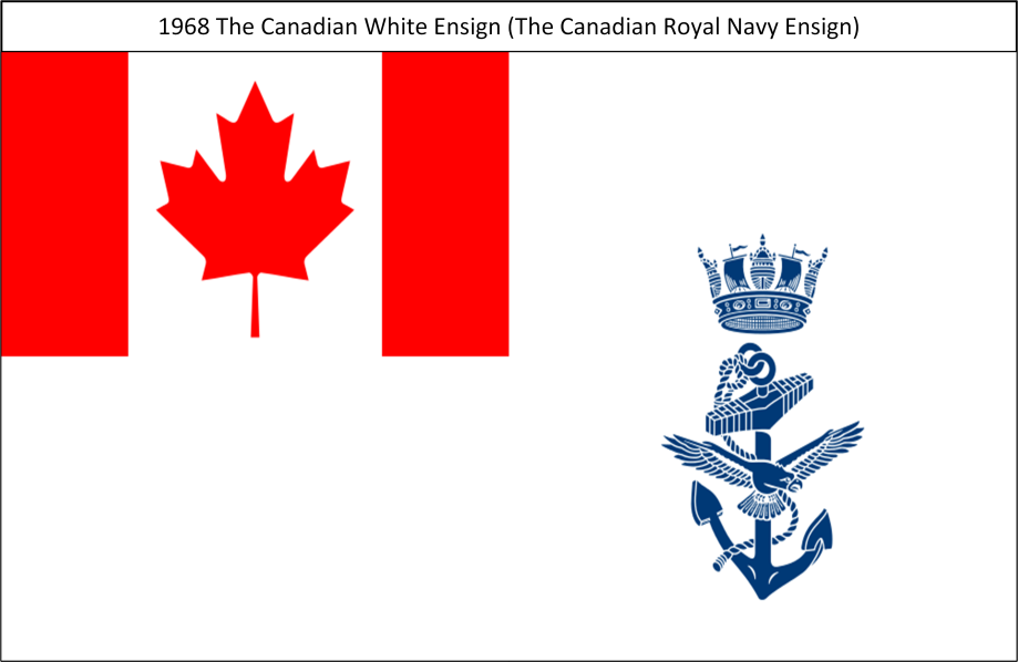 1968 B. The Canadian White Ensign