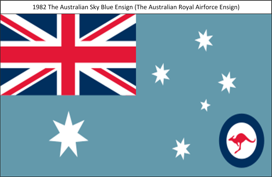 1982 The Australian Royal Airforce Sky Blue Ensign