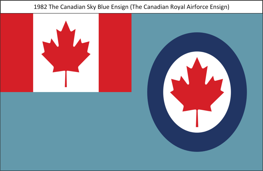 1982 The Canadian Royal Sky Blue Ensign (Airforce Ensign)